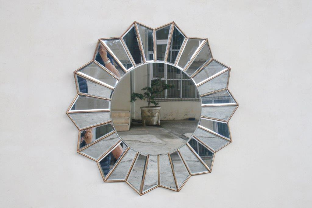 Speckled Sunburst Round Mirror 80cm Lemon Tree Interiors