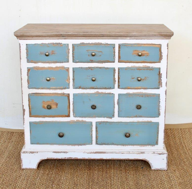 distressed vintage with farmhouse pin blue dresser wood stained graduated