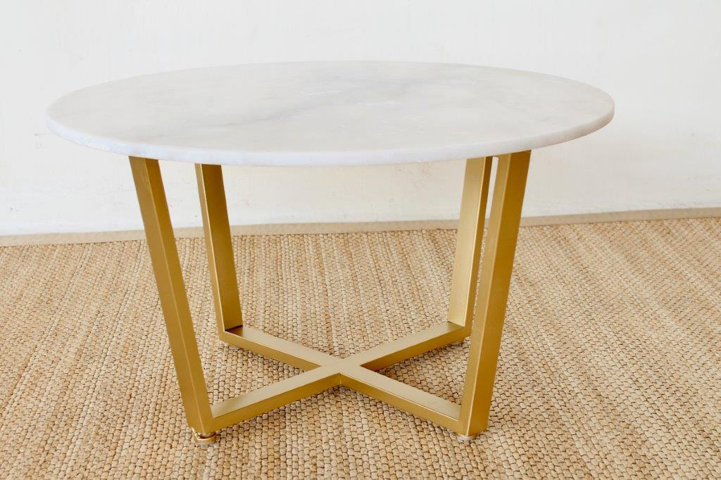 Round Coffee Table Gold Legs 10